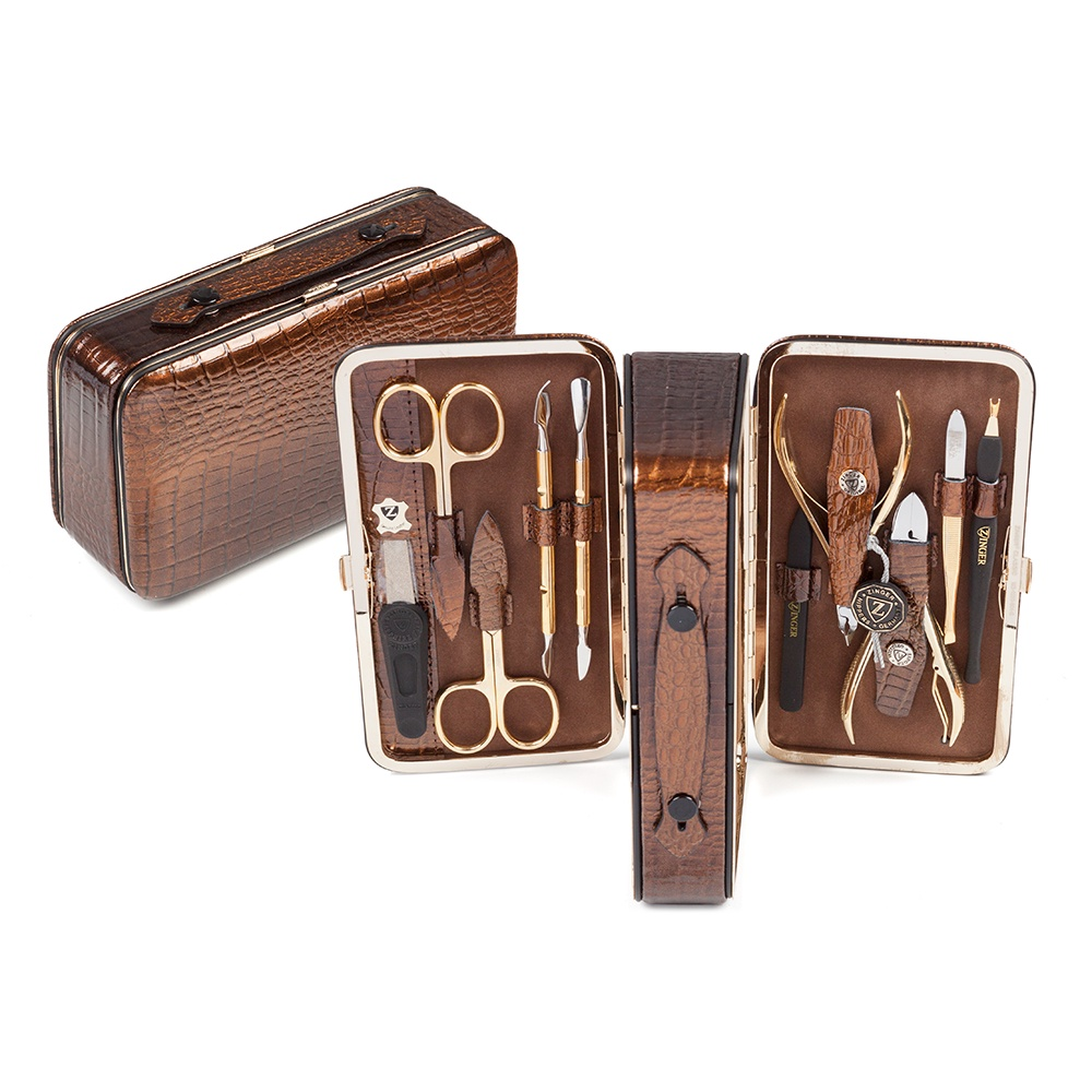 Zinger Маникюрный набор 10 предметов (1203-804G), бронза