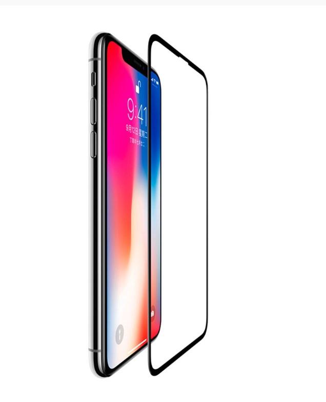Защитное стекло 3D SCHOTT (0,3 мм, 9Н) для iPhone XS Max, черная рамка, 4066SPC01, Black Rock