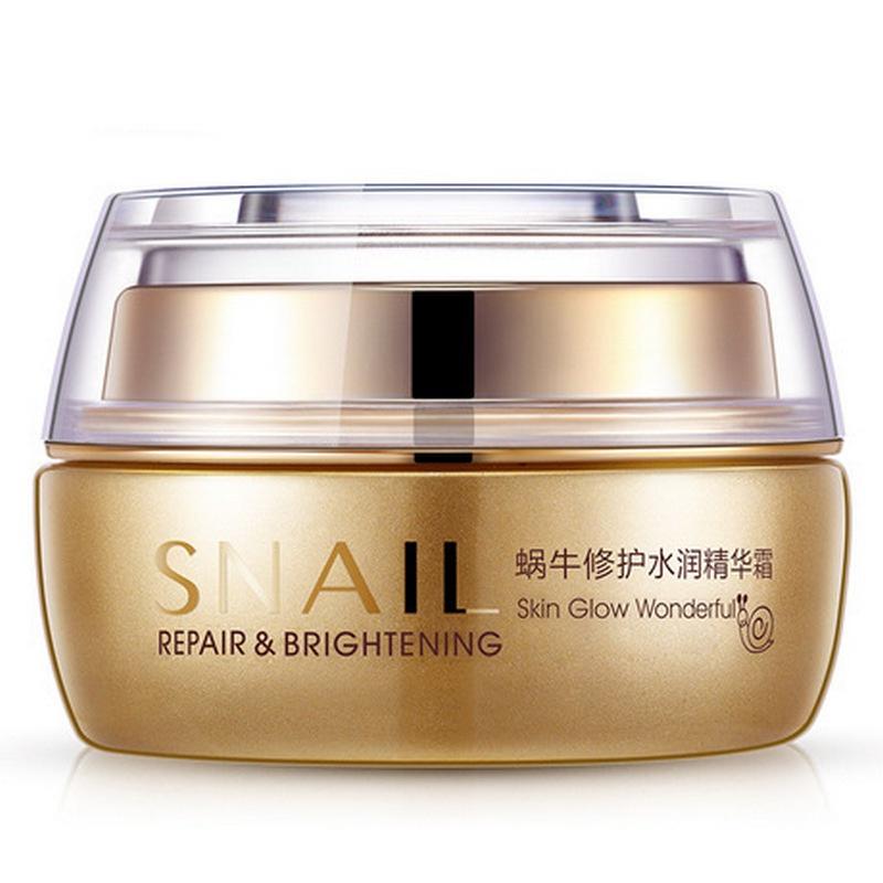 BIOAQUA Увлажняющий крем для лица с муцином улитки Snail Repair & Brightening, 50гр