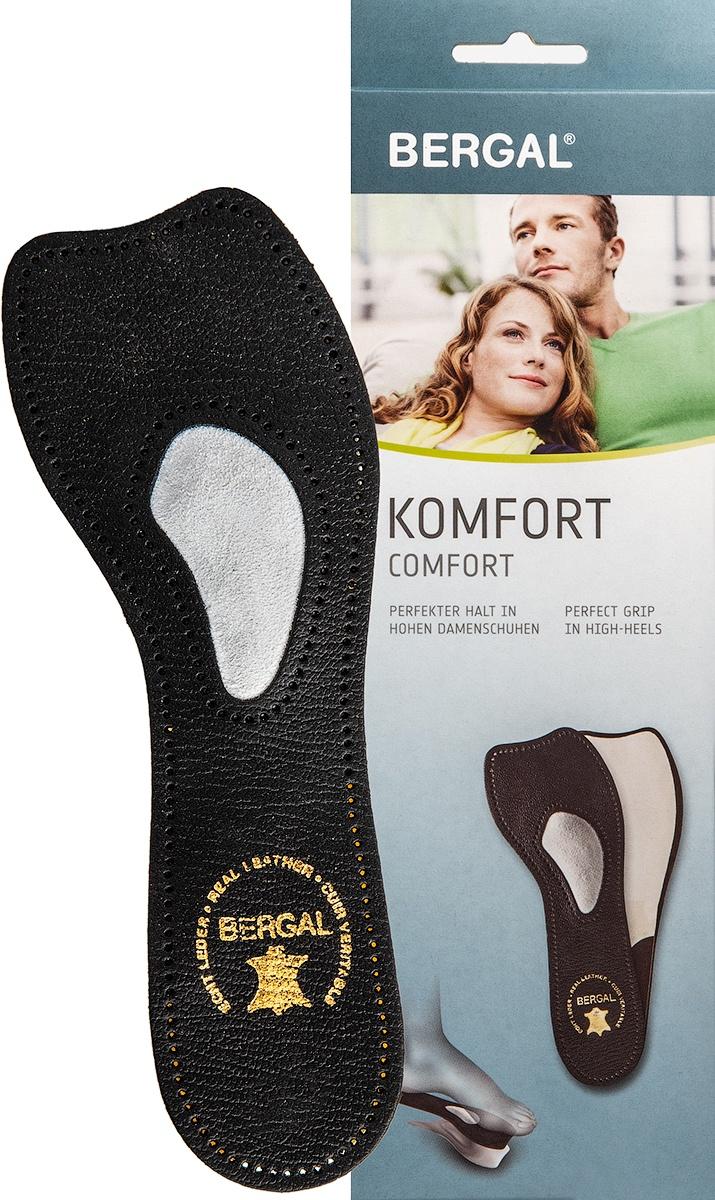 Комфортные стельки-супинаторы в черном цвете BERGAL размер 38 стельки супинаторы