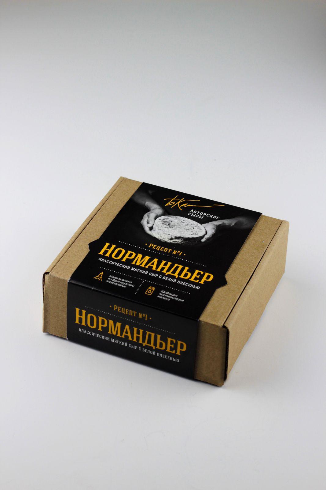 Сыр Авторские сыры Нормандьер рецепт №1, мягкий с белой плесенью, 200 г