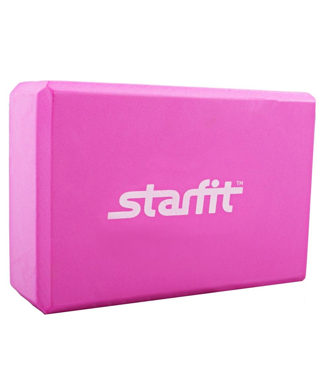 Блок для йоги Starfit FA-101 EVA розовый блок для йоги star из eva 0 3 кг 7 8 см 22 5 см фиолетовый 15 см