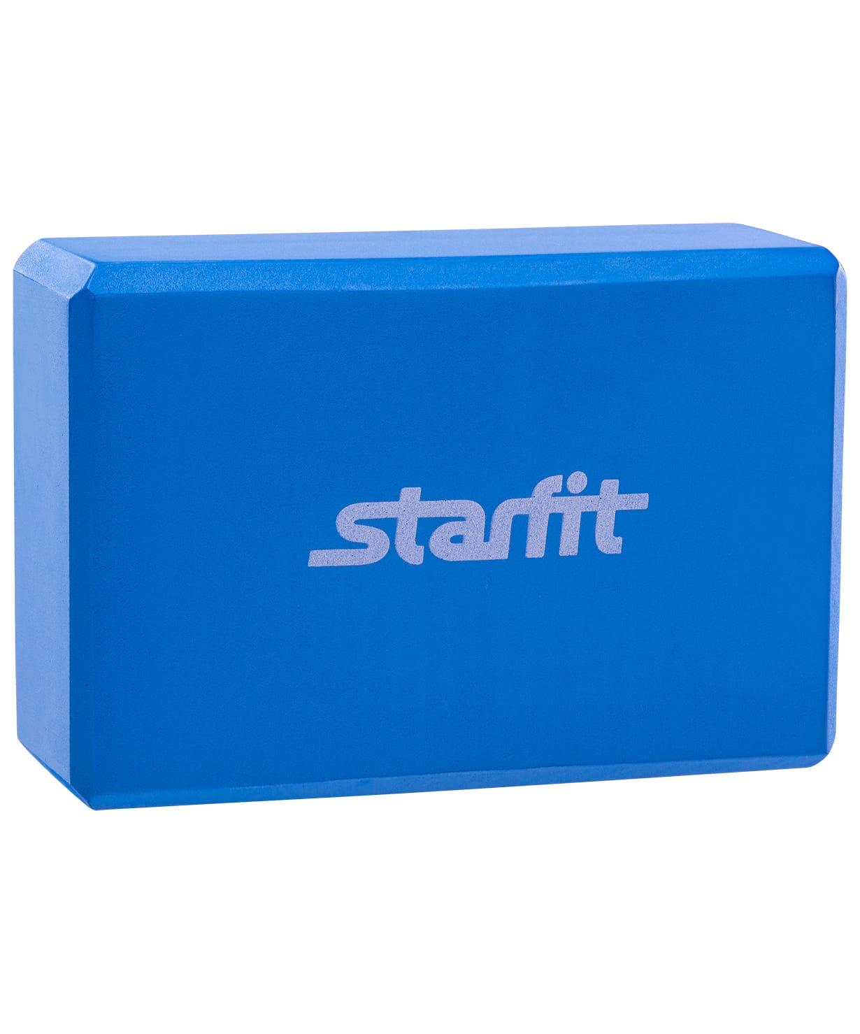 Блок для йоги Starfit FA-101 EVA синий блок для йоги star из eva 0 3 кг 7 8 см 22 5 см фиолетовый 15 см
