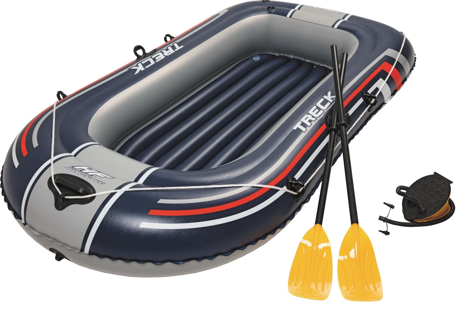 Лодка надувная с вёслами и насосом, 228х121х32см, Bestway 61083