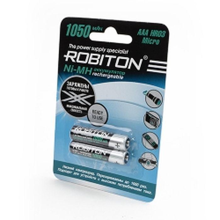 Аккумуляторная батарейка Robiton RTU1050MH-2 BL2, 13117