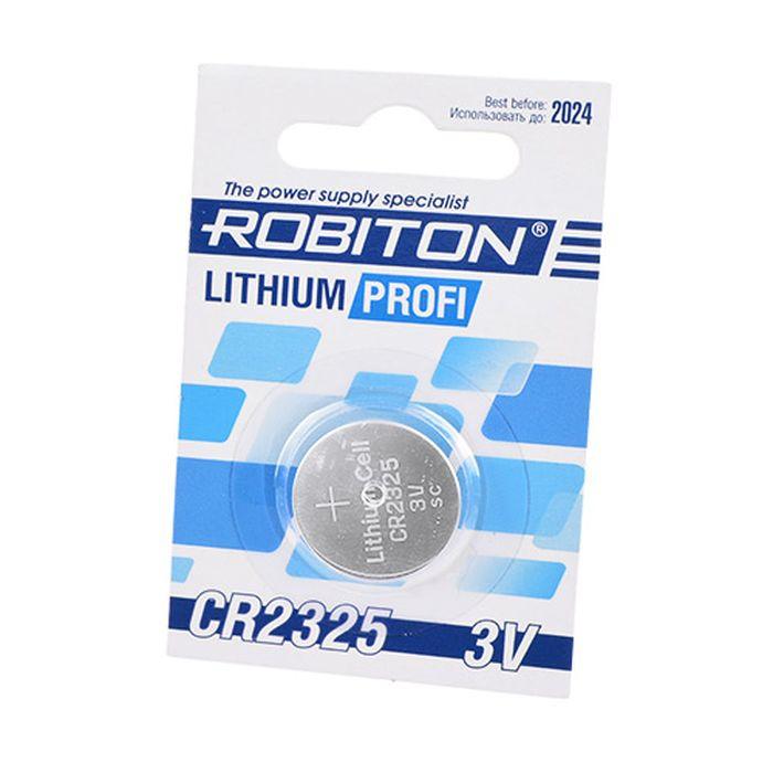 Батарейка Robiton Profi R-Cr2325-Bl1 Cr2325 Bl1, 14629 умная система ajax socket чёрная 13327 34 bl1