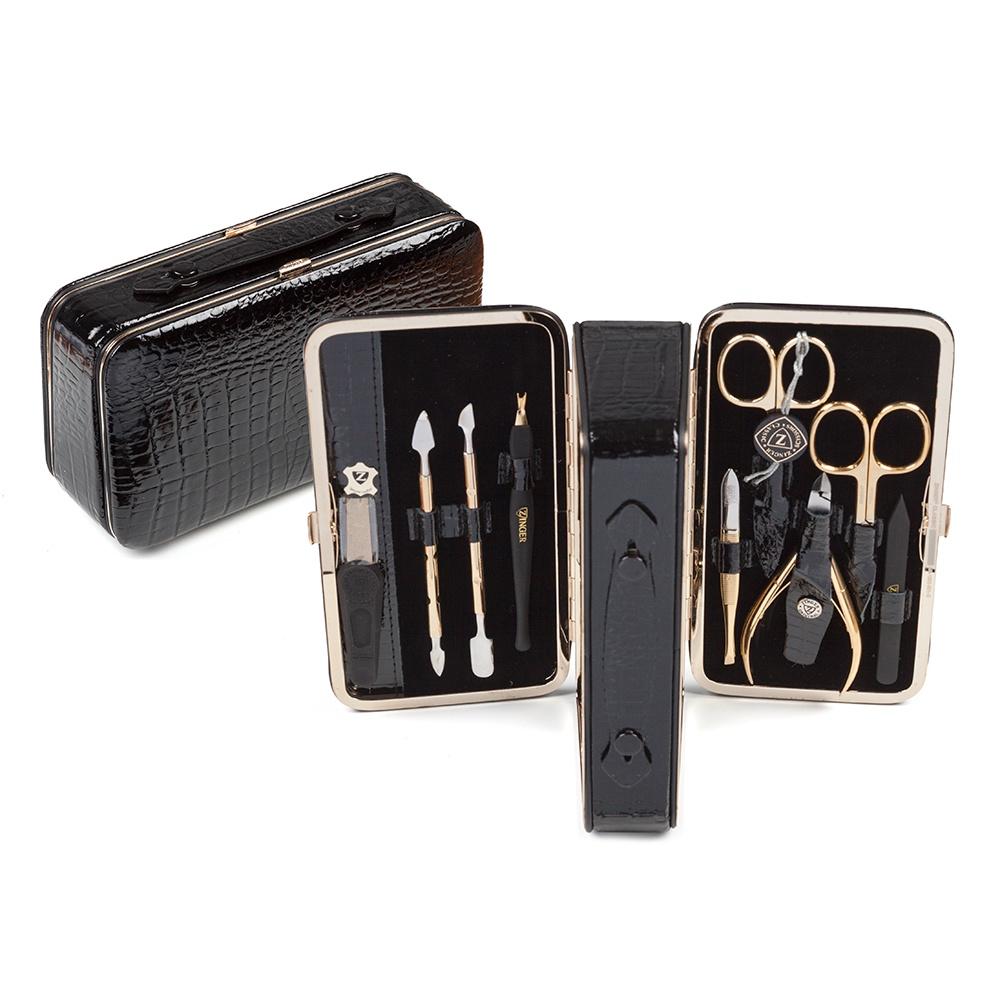 Zinger Маникюрный набор 9 предметов (1203-801G), черный