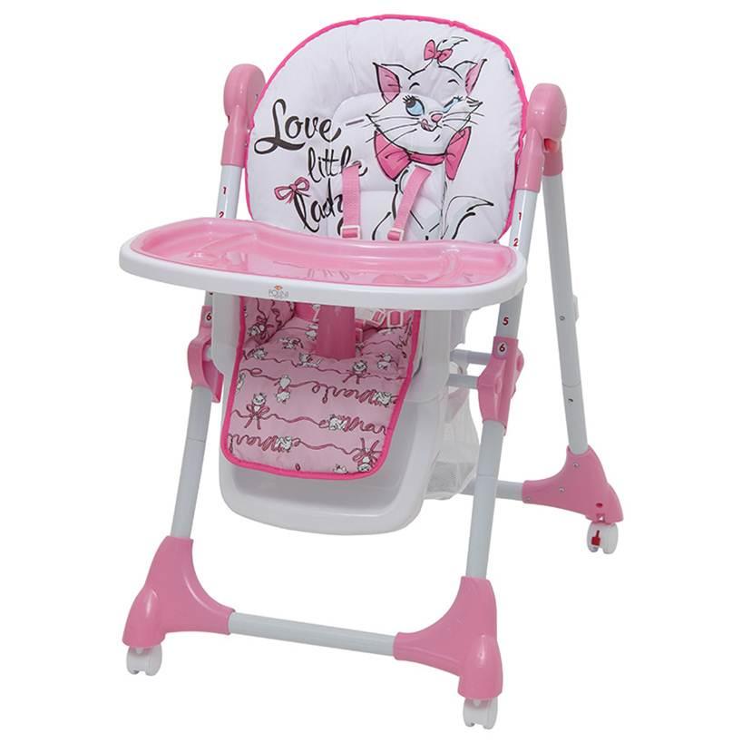 Стульчик для кормления Polini kids Disney baby 470 Кошка Мари (розовый)