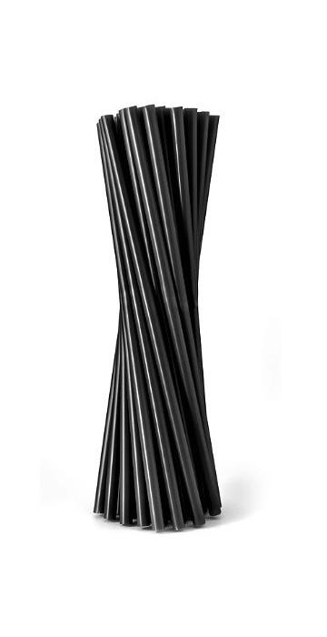 Трубочки для коктейлей Черные толстые палочки для коктейлей алмаз 18 см 12 штук в упаковке