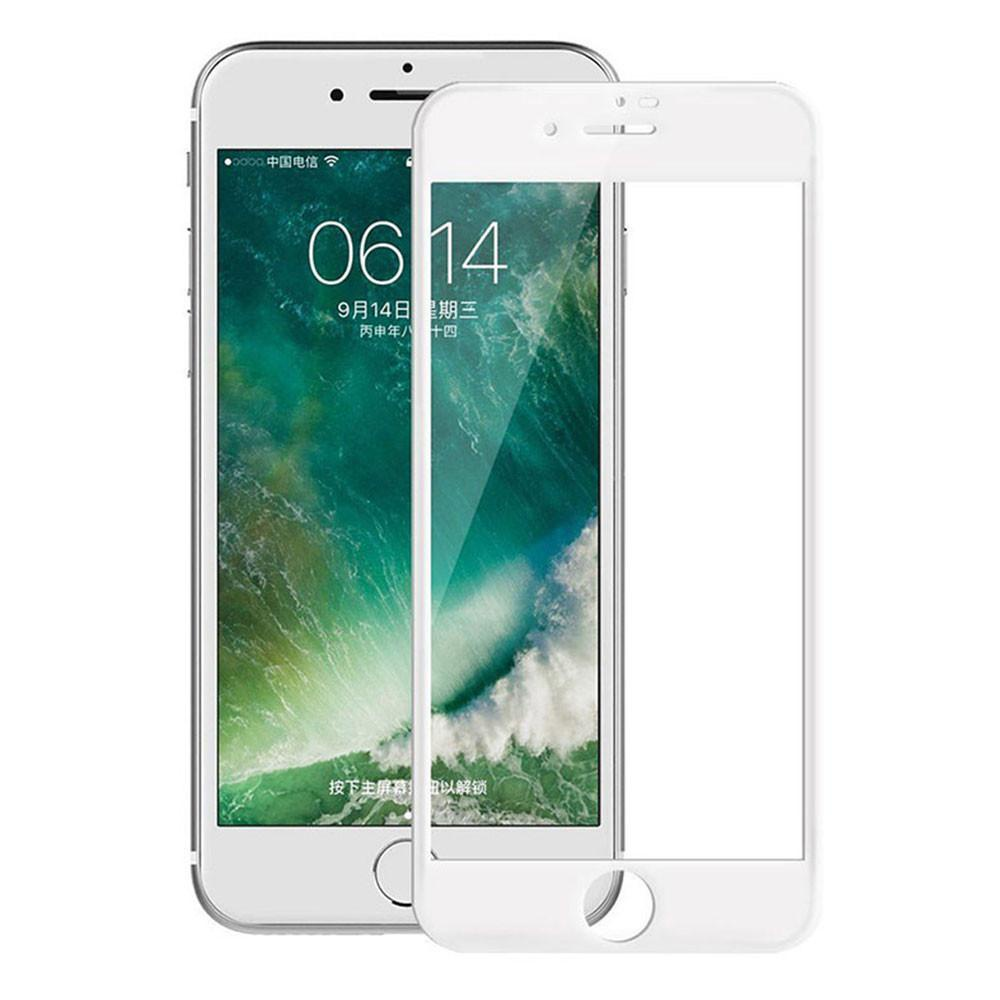 Стекло защитное на экран Rock 3D Curved Tempered Glass Screen Protector с мягкими краями 0.23 мм для iPhone 7/8, белое