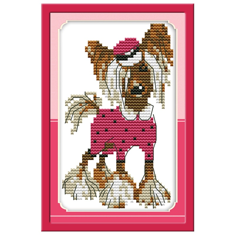 Набор для вышивания NKF A lady dog