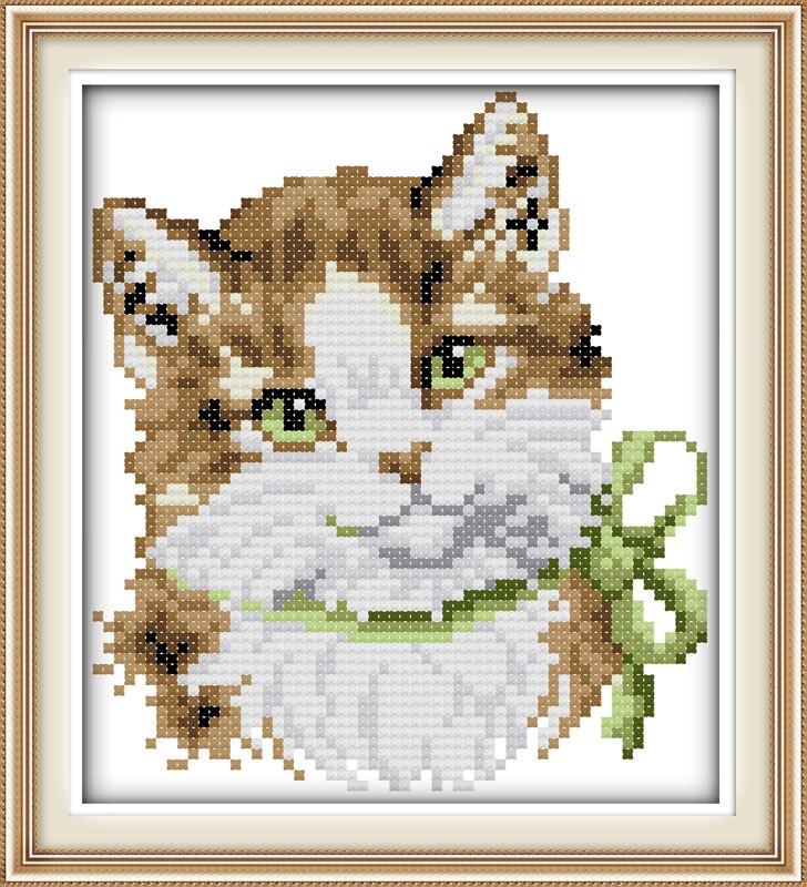Набор для вышивания NKF A lovely cat sister