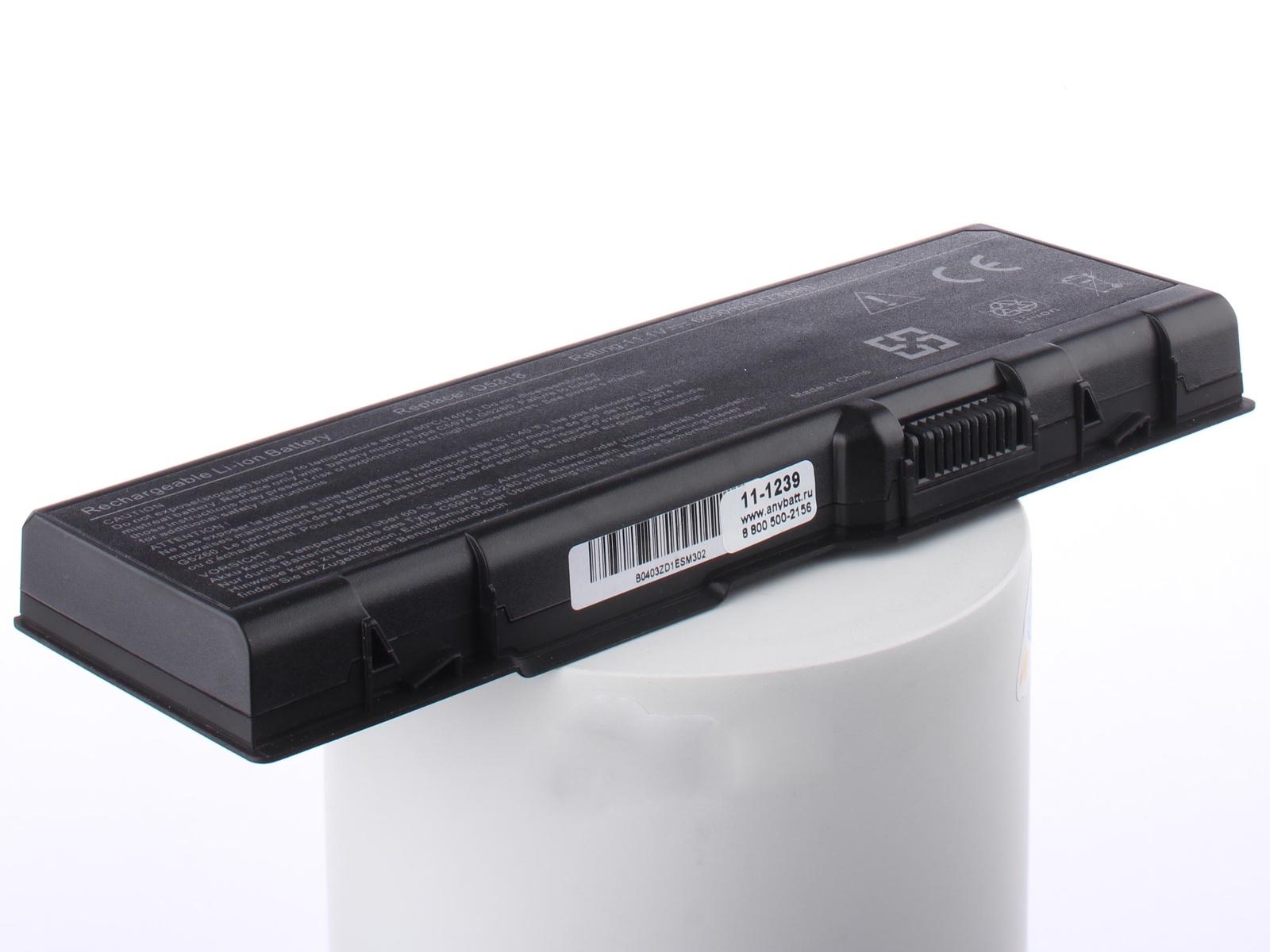 Аккумуляторная батарея AnyBatt 11-A1-1239 6600mAh для ноутбуков Dell D5318, G5260, F5132, U4873, C5974, B-5022, C5447, 312-0349, G5266, цена в Москве и Питере