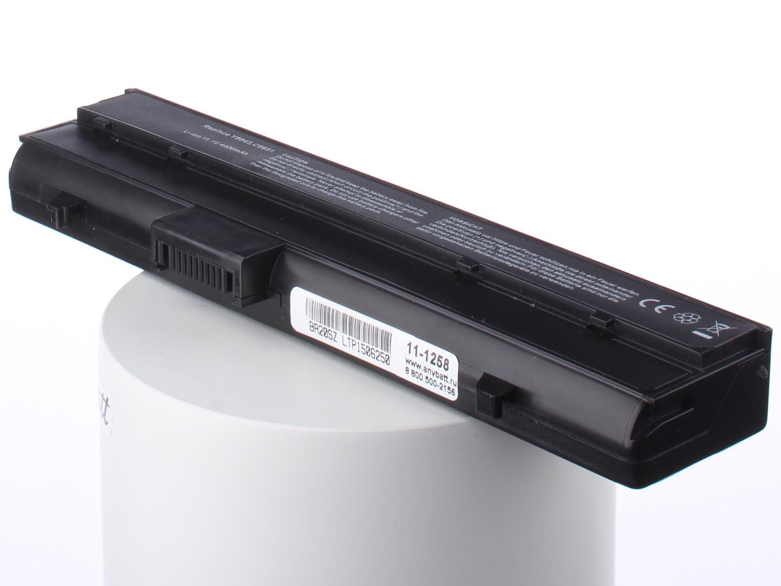 Фото - Аккумуляторная батарея AnyBatt 11-A1-1258 4400mAh для ноутбуков Dell RC107, WG400, YG310, FC141, C9553, DC224, CC156, Y9943, UG679, аккумуляторная батарея для ноутбуков dell primary 6 cell 65w hr expresscharge capable kit 451 11980