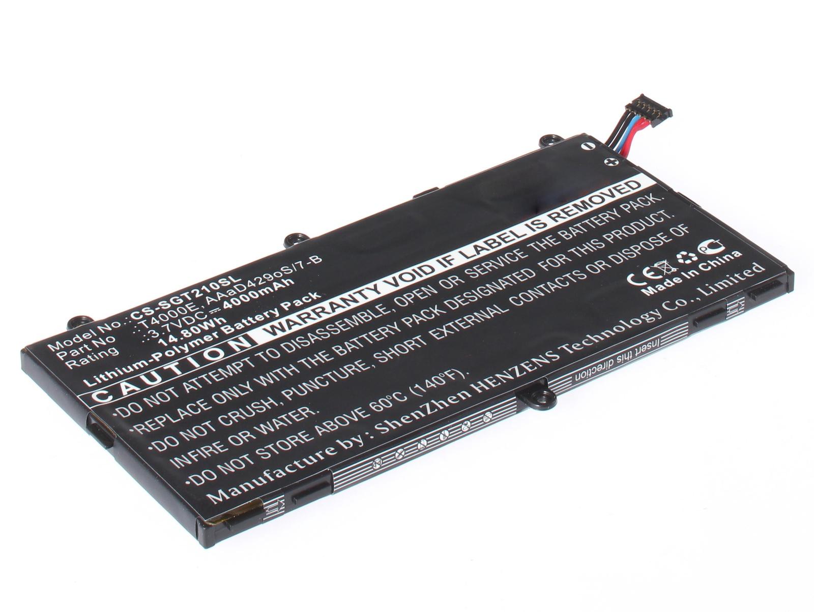 Аккумуляторная батарея iBatt iB-T1-A1287 4000mAh для ноутбуков Samsung Galaxy Tab 3 7.0 SM-T211, Galaxy Tab 3 7.0 SM-T210, Galaxy Tab 3 7.0 SM-T211 8Gb, Galaxy Tab 3 7.0 SM-T210 8Gb, Galaxy Tab 3 7.0 SM-T2105, Galaxy Tab 3 7.0 SM-T2105 8Gb, samsung galaxy tab a 7 0 sm t280 wi fi 8gb 7 1280x800 1536mb wifi google android 5 1