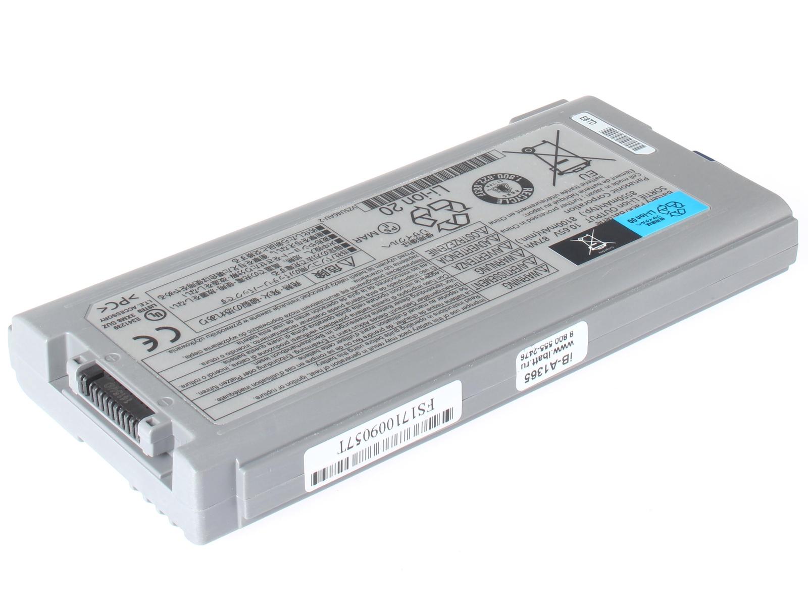 Аккумуляторная батарея iBatt iB-A1-A1365 8400mAh для ноутбуков Panasonic CF-VZSU1430U, CF-VZSU46, CF-VZSU46AU, CF-VZSU46S, CF-VZSU46U, CF-VZSU72U, CF-VZSU71U, iB-A1365, цена