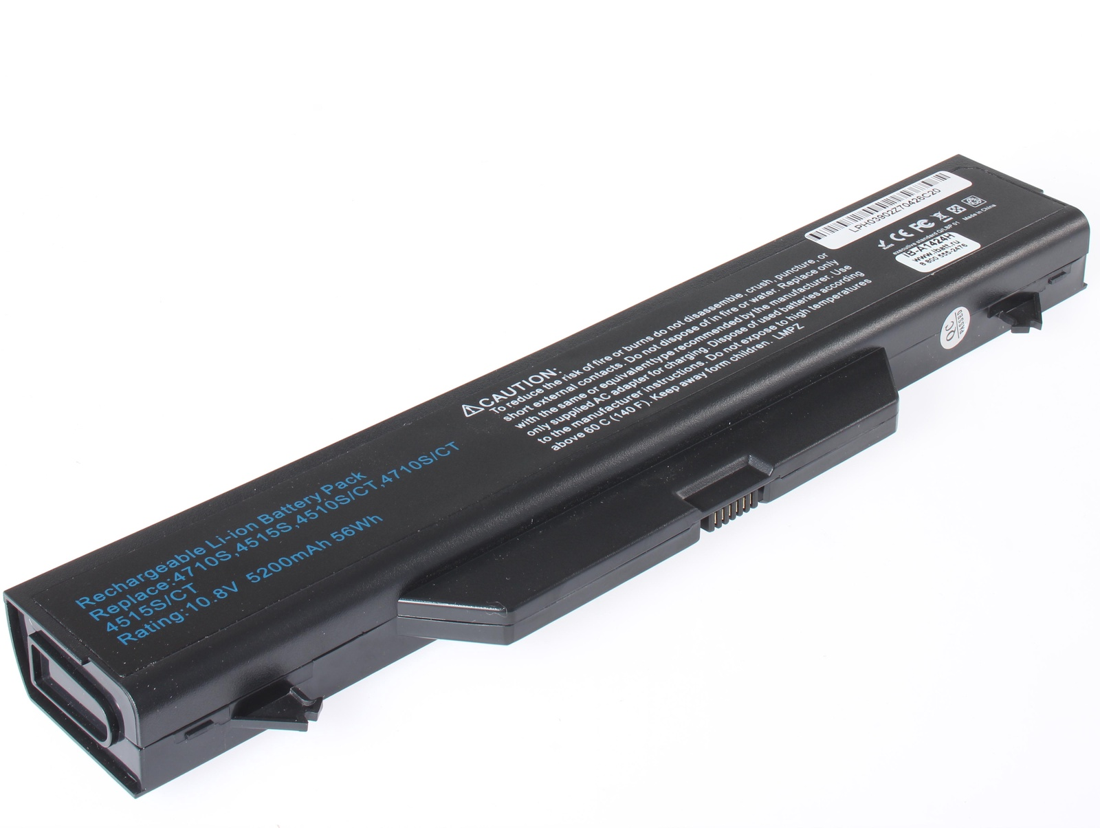 Аккумуляторная батарея iBatt iB-A1-A1424H 5200mAh для ноутбуков HP-Compaq HSTNN-LB88, HSTNN-iB89, HSTNN-iB88, HSTNN-OB89, NZ375AA, HSTNN-I61C, HSTNN-I60C, 593576-001, HSTNN-I61C-5, HSTNN-OB88, 572032-001, 535753-001, HSTNN-W79C-7, windows 7 для ноутбуков hp