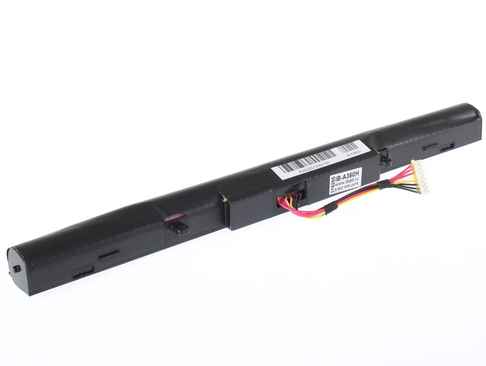 Аккумуляторная батарея iBatt iB-T3-A360H 2600mAh для ноутбуков Asus R513CL, X550JD, R510CC-XO359H, X450LB, X450LN, F550CC, K550JK, X552V, X450J, X550JK-XO072H, X550JK-XO031H, R510JX, X450JF, X550VL, A550CC, X450CA, X450V, X550CC 90NB00W2-M01970, K550CA, asus x550cc
