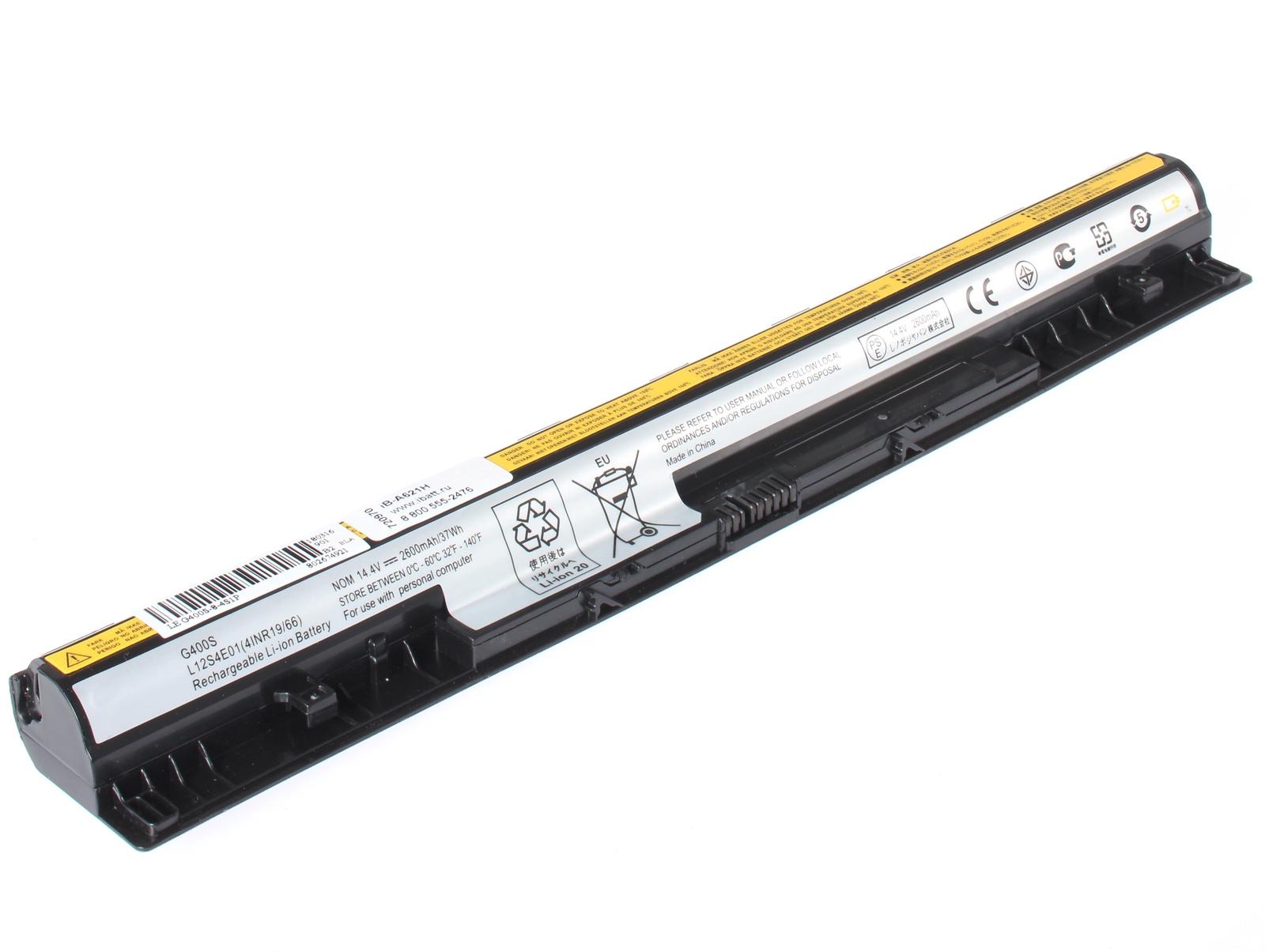 Аккумуляторная батарея iBatt iB-T1-A621H 2600mAh для ноутбуков iBM-Lenovo для G50-30, G50-45, G50-70, G50-80, IdeaPad Z710, IdeaPad S510p, IdeaPad G500S, IdeaPad G505s, G40-45, G40-70, G505s Series, IdeaPad Z710 59396874, G50-70M, IdeaPad Z710 59391654, 6 cell 11 1v 5200mah новый замена аккумулятор для ноутбука lenovo ideapad y460 ideapad y560