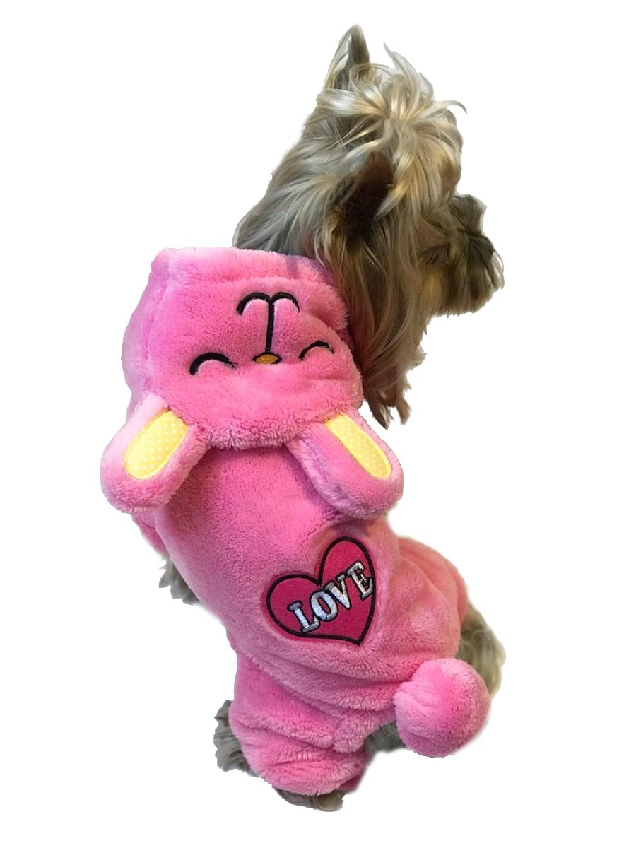 Карнавальный комбинезон для собак Зайка размер  XS 19cm