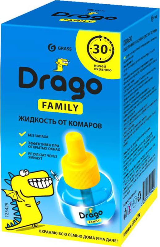Средство от насекомых Drago Жидкость от комаров, 30 мл электрофумигаторы от комаров