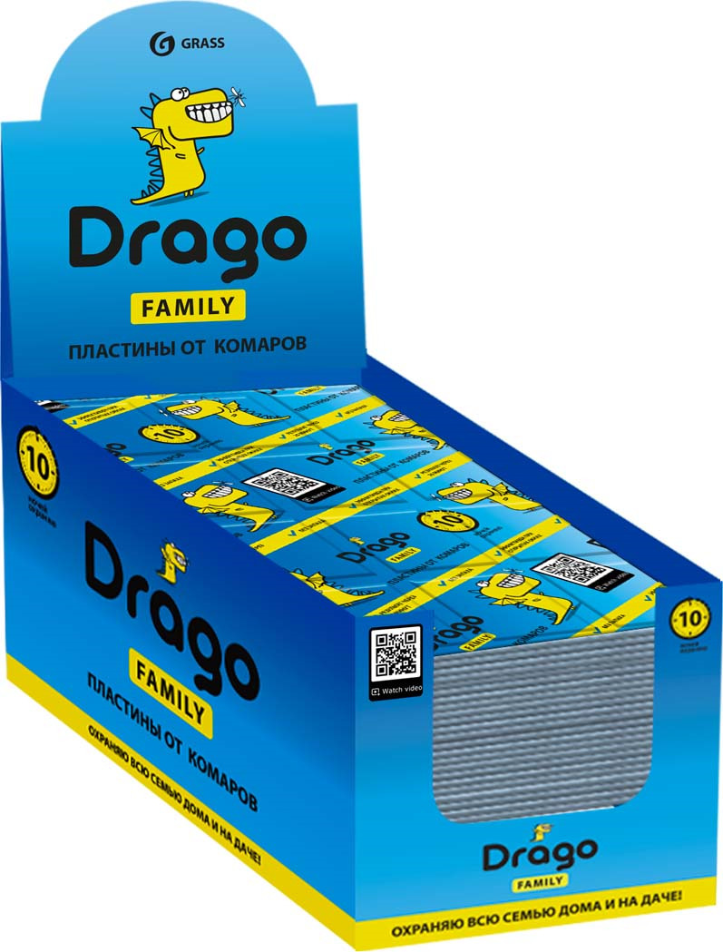 Средство от насекомых Drago Пластины от комаров, 10 шт рейд электрофумигатор пластины от комаров 10шт