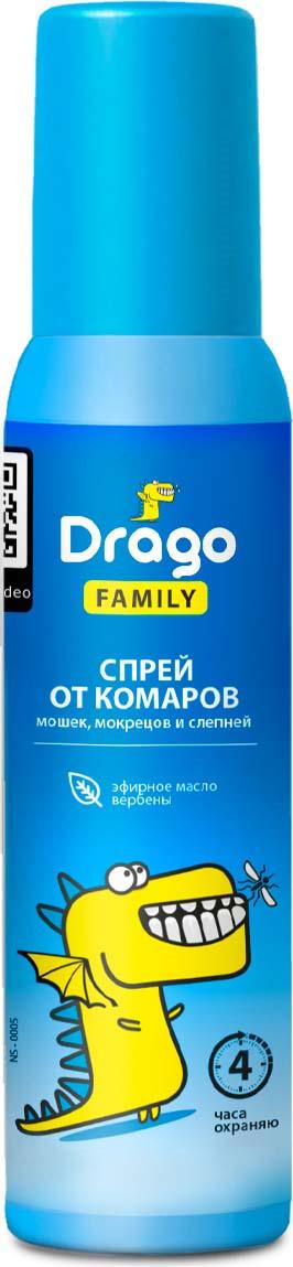 Средство от насекомых Drago Аэрозоль Family, 100 мл от насекомых спрей