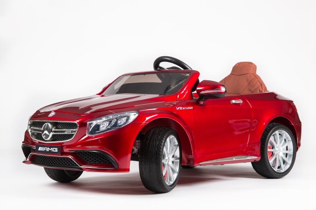 Электромобиль BARTY Mercedes-Benz S63 AMG (HL-169) вишневый глянец