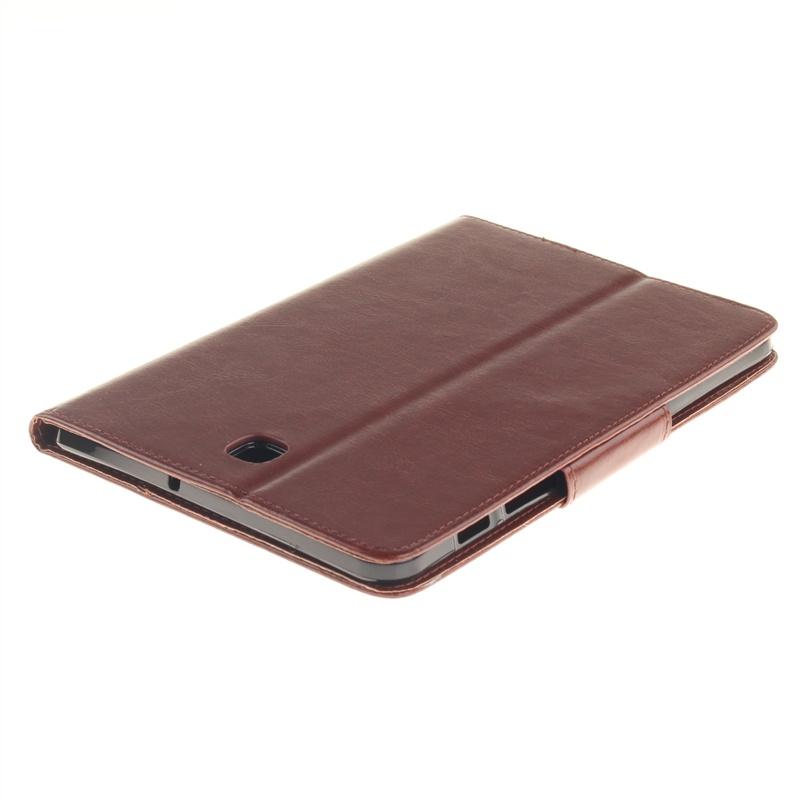 Чехол из искусственной кожи с тисненным одуванчиком магнитной застежкой держателем и отделением для пластиковых карт для Samsung Galaxy Tab S2 8.0 SM-T715 (коричневый)