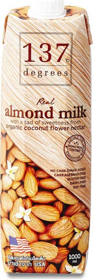 Растительное молоко 137 Degrees Миндальное с нектаром кокосовых соцветий, 1 л