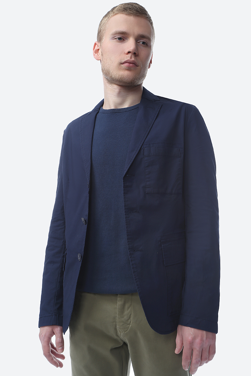 Пиджак мужской S.Oliver Red Label, цвет: голубой. 13.904.54.3815_5877. Размер M (46/48) поло женское oodji цвет белый голубой 19301010 46161 1270f размер m 46