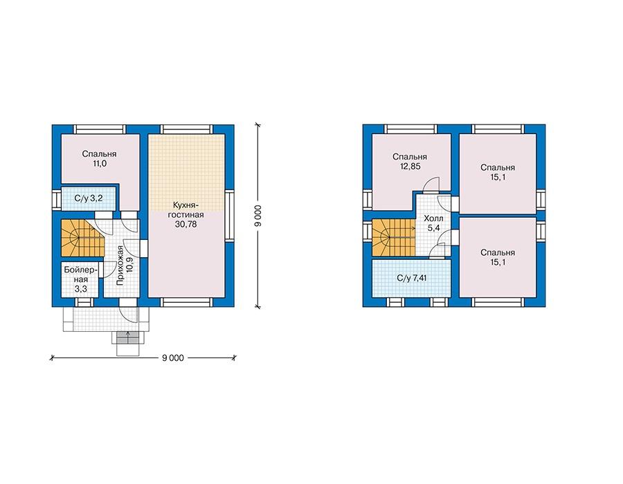 Проект дома Plans-61-75 (115 кв.м, газобетон) Plans.ru