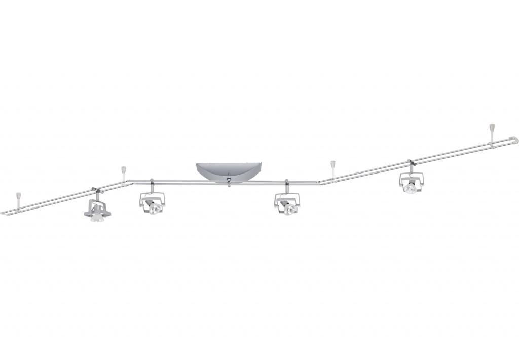 Настенно-потолочный светильник штанг. MAC2 4x35W GU5,3 хром мат.