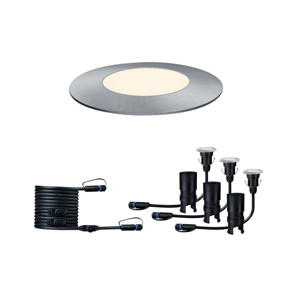 Встраиваемый светильник Outd Plug+Shine Set 3x2,5W Boden EBL Sil детский светильник lumobook утка lb sil 09 розовый