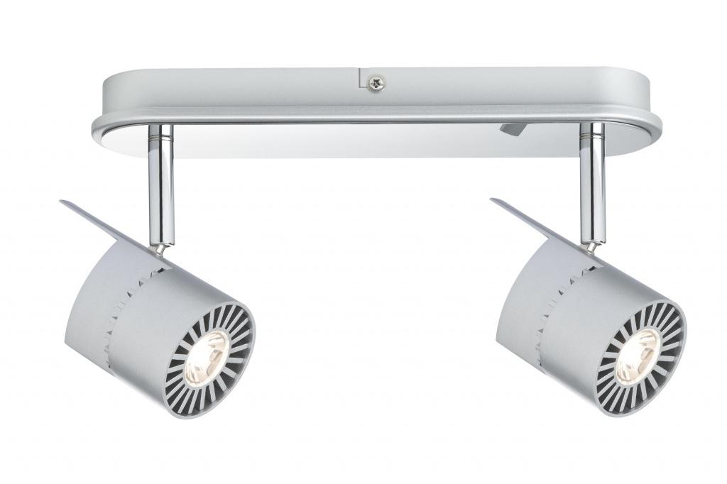Потолочный светильник Power LED 2x10W, хром матовый