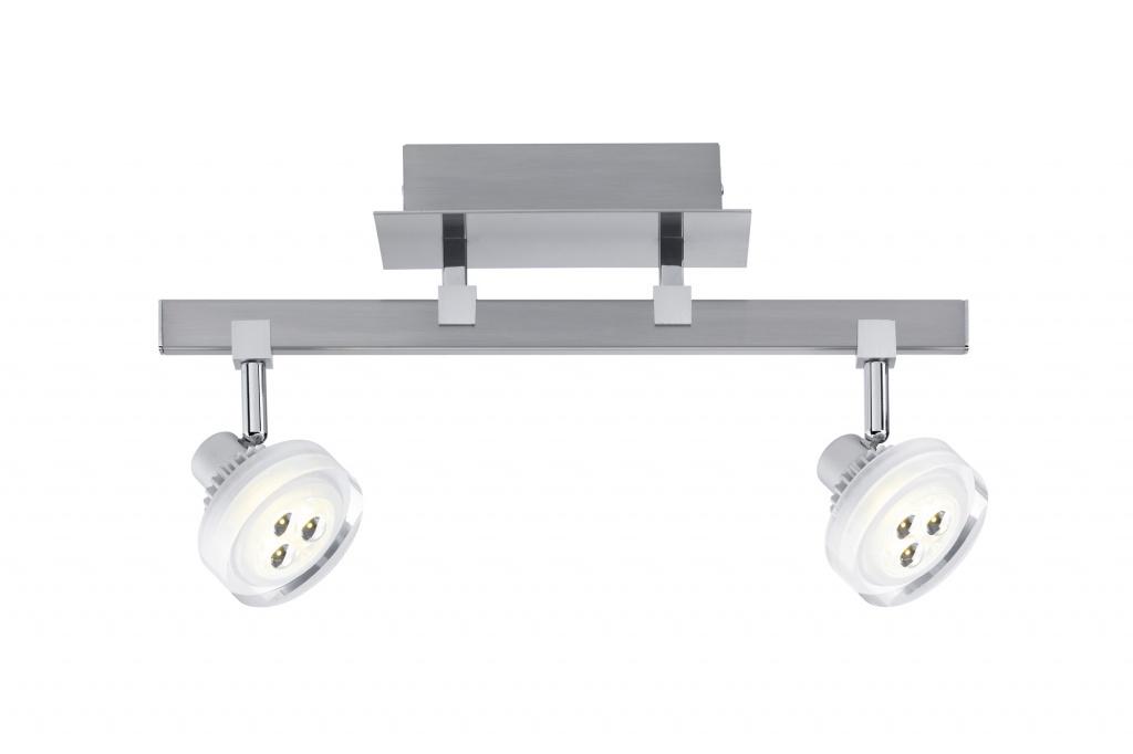 Потолочный светильник Gloria LED 2x 5 W, 230/12 V, 3000 K/ 2x 186 lm, никель тертый hu716 2x