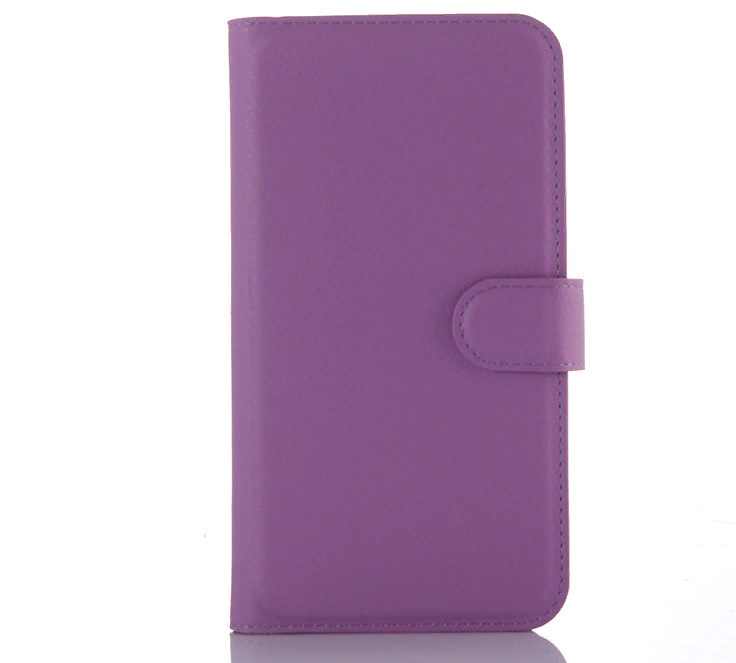 Фирменный чехол-книжка из качественной импортной кожи с мульти-подставкой застёжкой и визитницей для Асус Зенфоне 2 Лазер ЗЕ500КЛ 5.0 фиолетовый MyPads