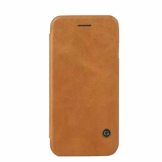 Фирменный чехол-книжка из качественной импортной кожи с мульти-подставкой застёжкой и визитницей для Samsung Galaxy S10 Plus SM-G975F светло-коричневый MyPads