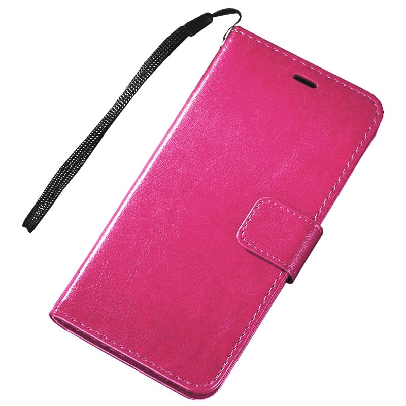 Фирменный чехол-книжка из качественной импортной кожи с мульти-подставкой застёжкой и визитницей для Samsung Galaxy J2 Core SM-J260F розовый MyPads