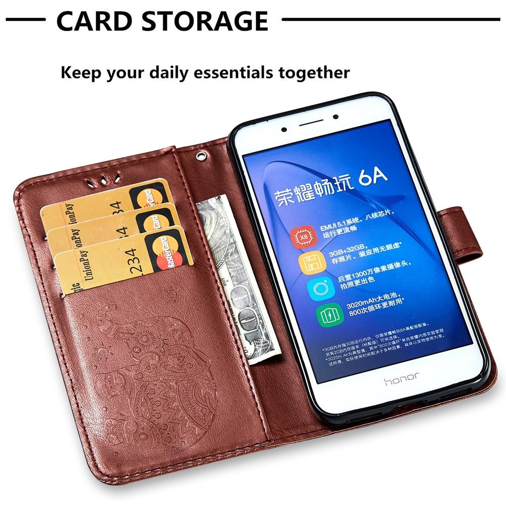 Чехол с магнитной застежкой и отделениями для карточек для Huawei Honor 6A 2016 women wallet long smooth pu leather purse id credit card holder lady coin purses clutch wallets money bag embossed handbag