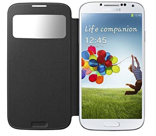 Для Samsung Galaxy S4 Mini i9190 Складной флип-чехол Чехол Защитная оболочка с окном просмотра (черный)