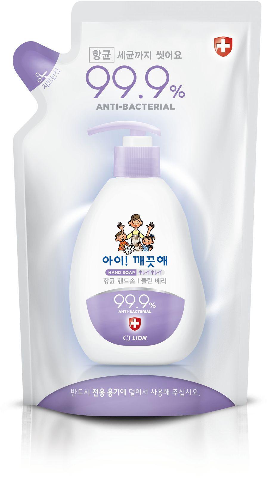 Жидкое мыло CJ Lion Ai-Kekute Сочная ягода, антибактериальное, запасной блок, 200 мл