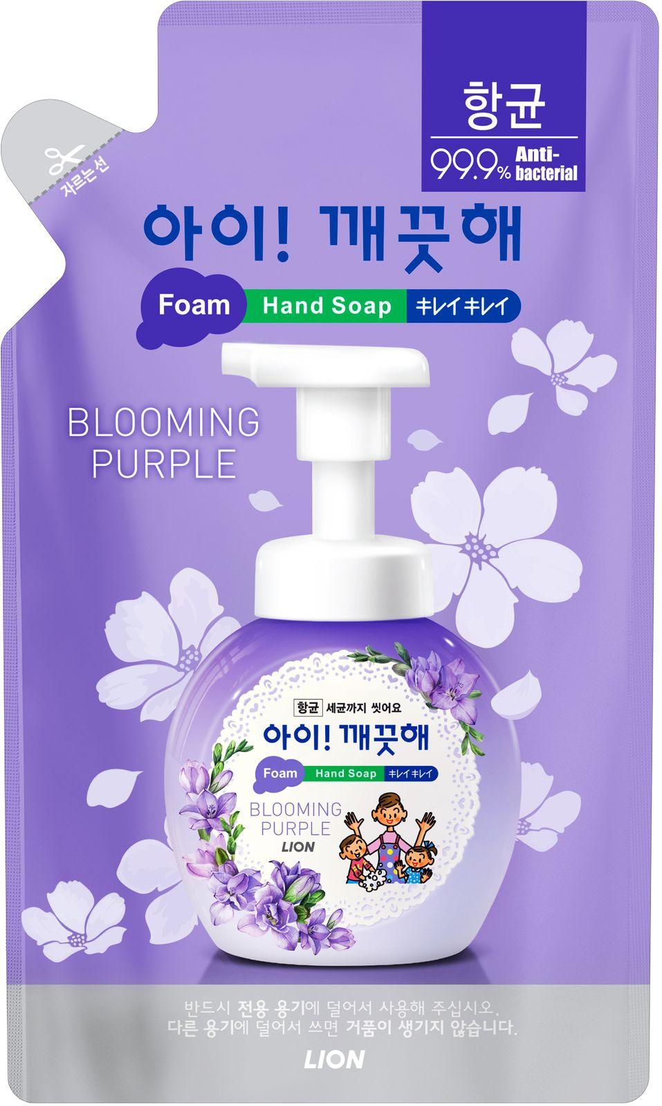 Жидкое мыло CJ Lion Ai-Kekute Аромат фиалки, антибактериальное, запасной блок, 200 мл