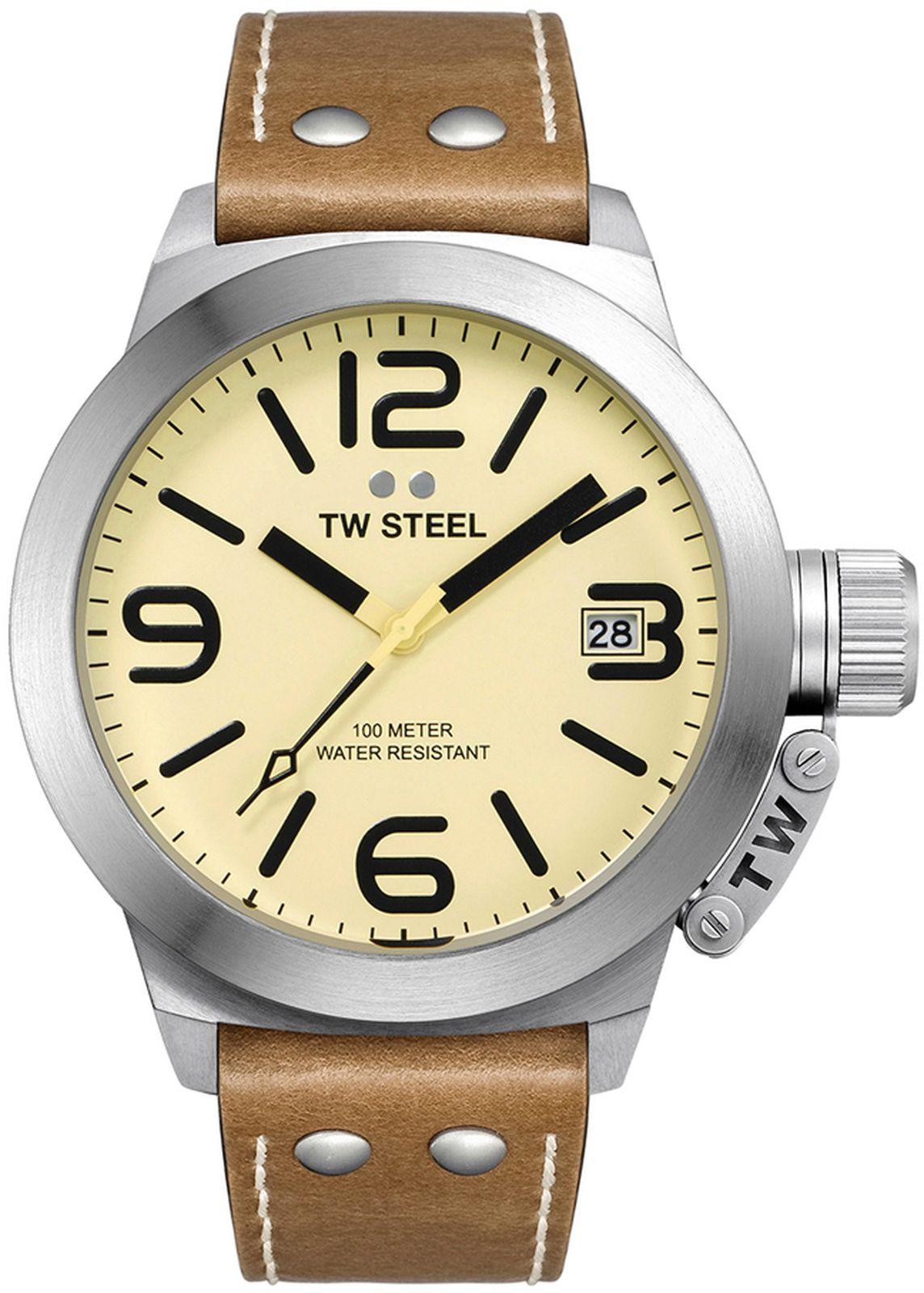 Наручные часы TW Steel мужские, светло-коричневый