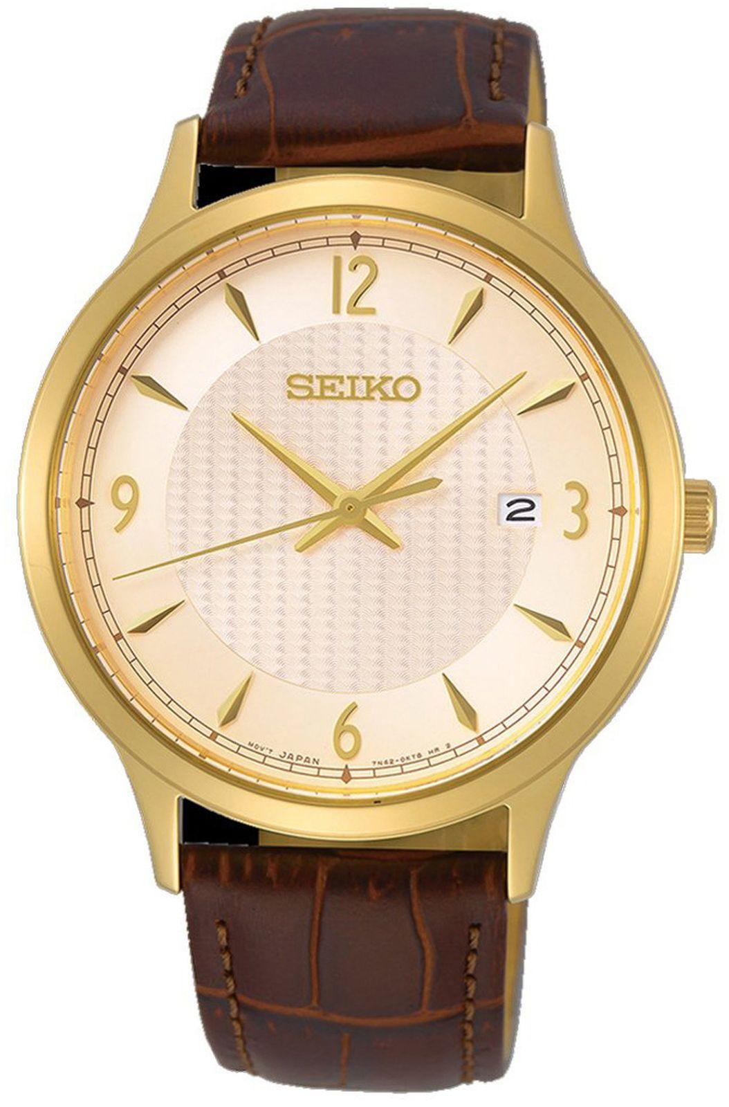 купить Наручные часы Seiko мужские, коричневый по цене 18200 рублей