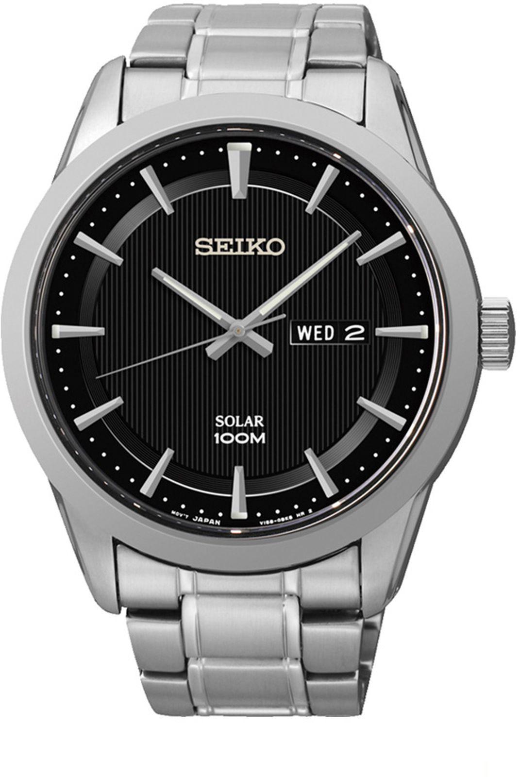 купить Наручные часы Seiko мужские, серебристый по цене 16200 рублей