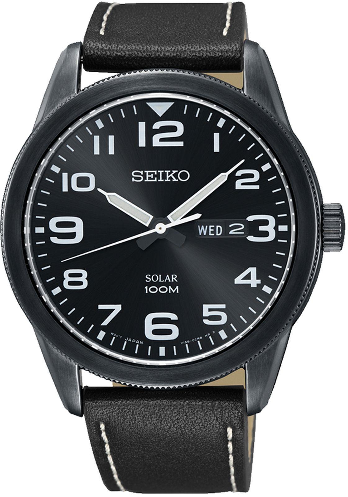 купить Наручные часы Seiko мужские, черный по цене 19350 рублей