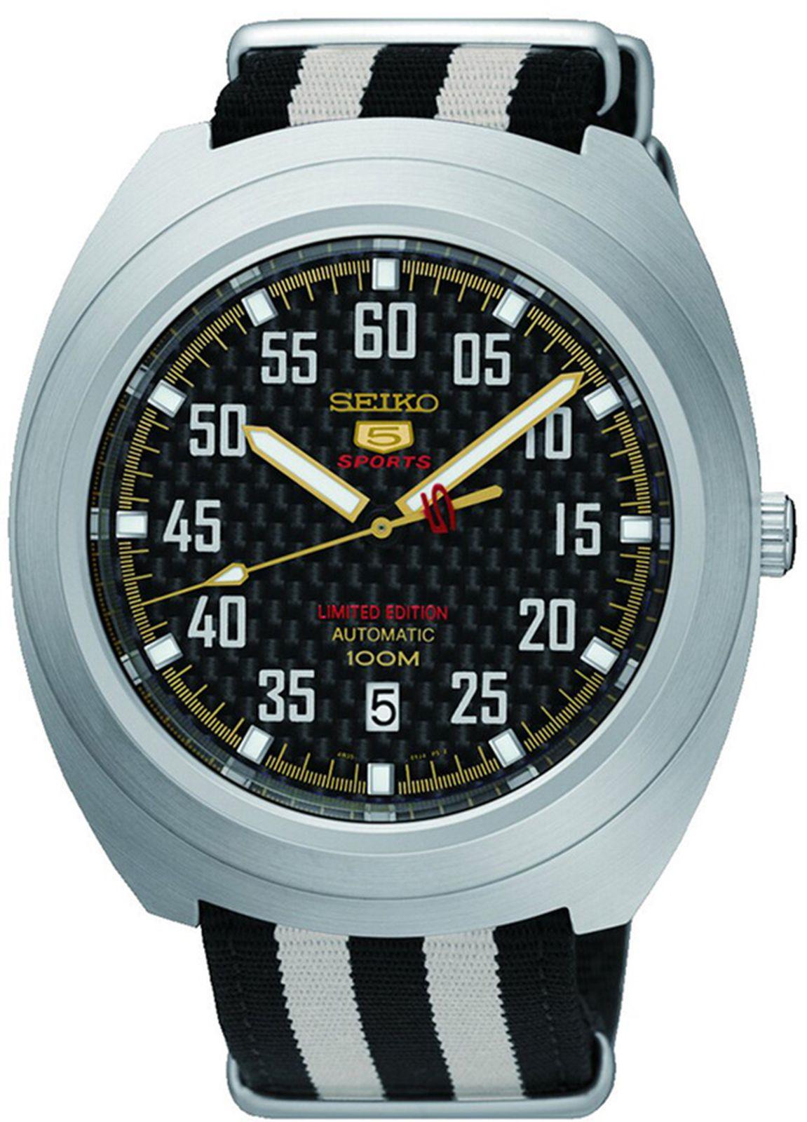 Наручные часы Seiko мужские, черный, белый seiko automatic presage sarx019