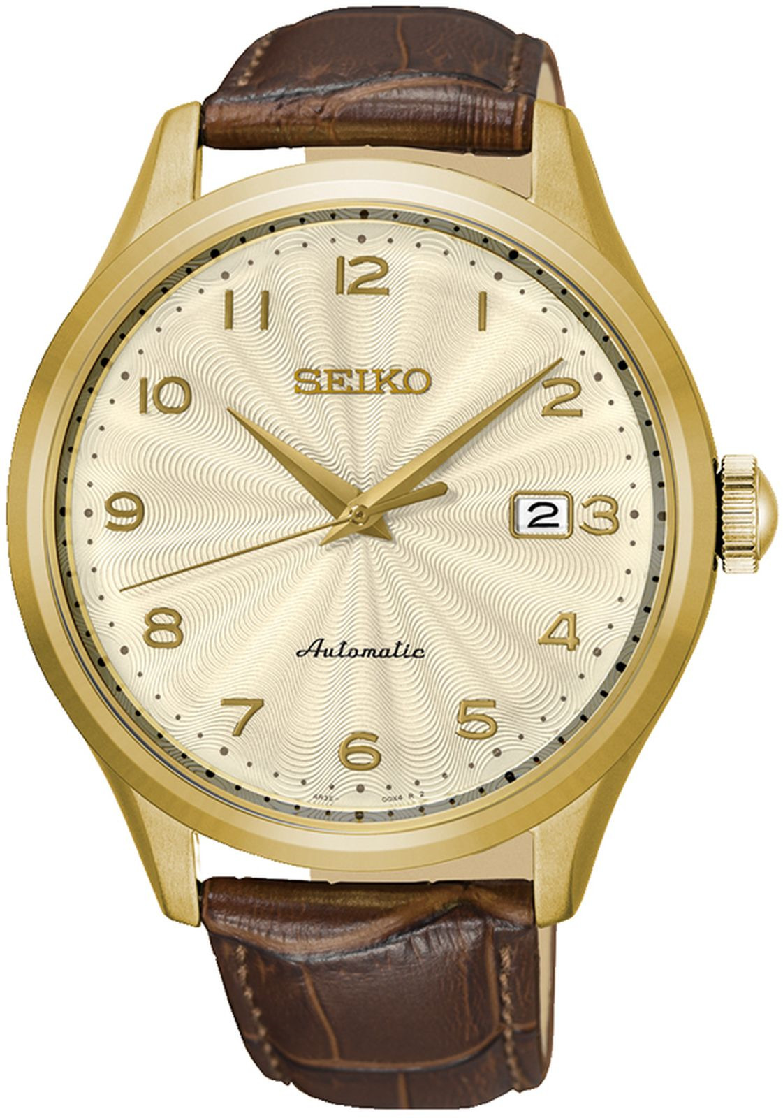цена Наручные часы Seiko мужские, коричневый онлайн в 2017 году