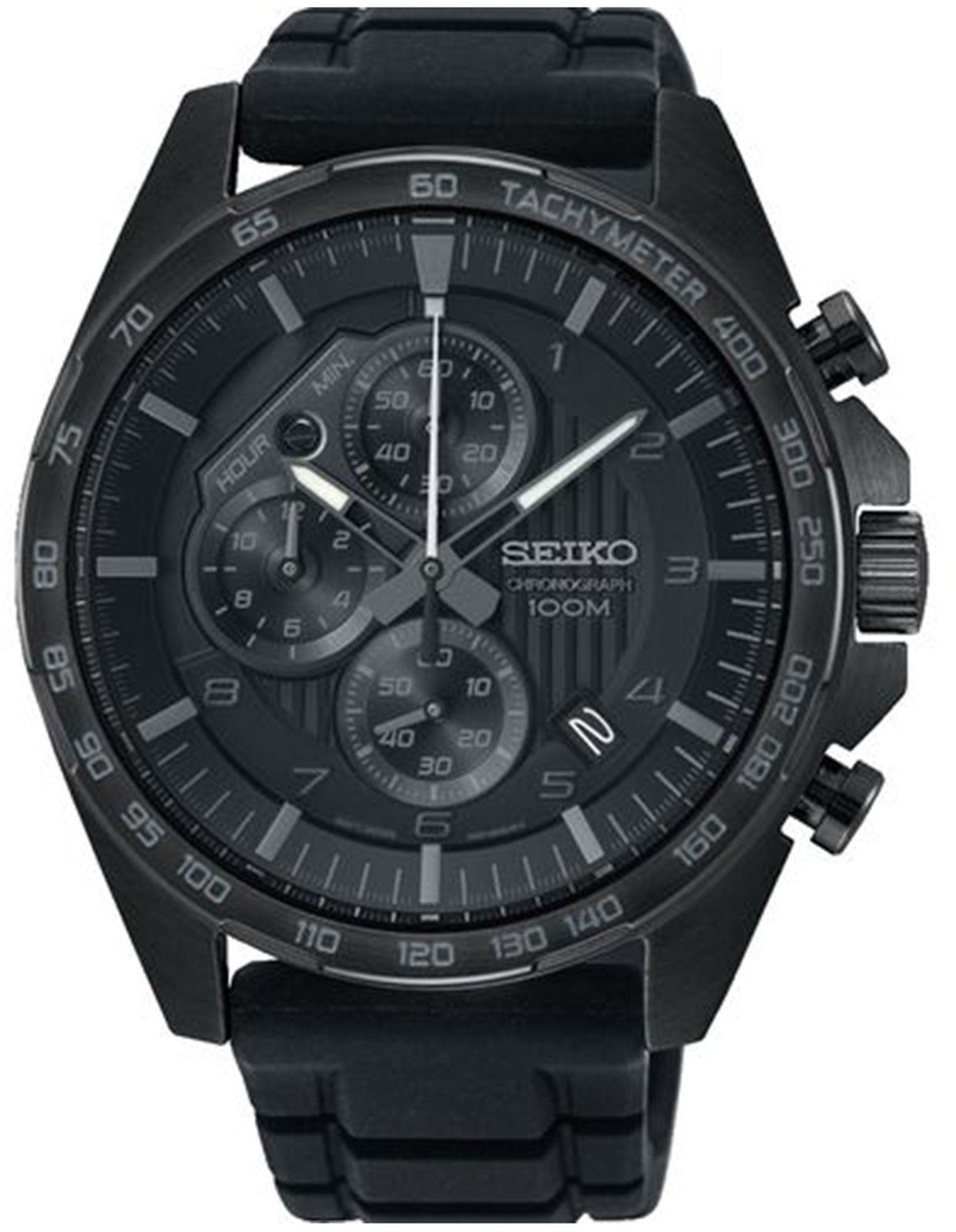 Наручные часы Seiko мужские, черный все цены